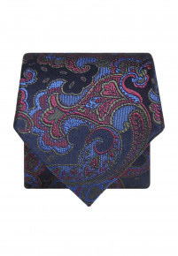 Blue with Green,Red and Blue Paisley Silk Tie