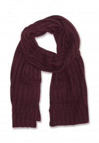 Wine Knitted Scarf