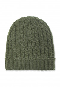 Green Knitted Beanie Hat