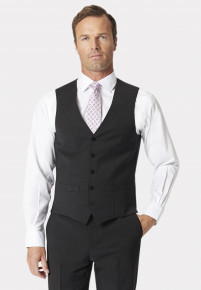Charcoal Avalino Crease Resistant Washable Waistcoat