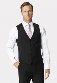 Black Avalino Crease Resistant Washable Waistcoat