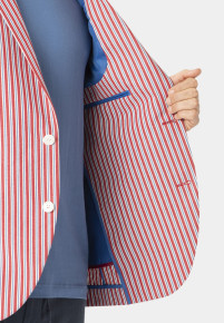 Brimham 'Cotton' Stripe Tailored Fit Jacket