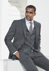 Cassino Grey Check Tailored Fit Washable Suit