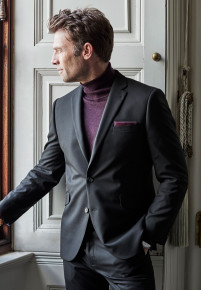 Dijon Black Tailored Fit Three Piece Suit - Waistcoat Optional