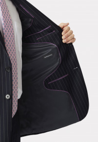 Epsom Navy Pinstripe Super 110's Suit
