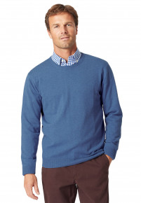 Washed Blue Medway Crew Neck