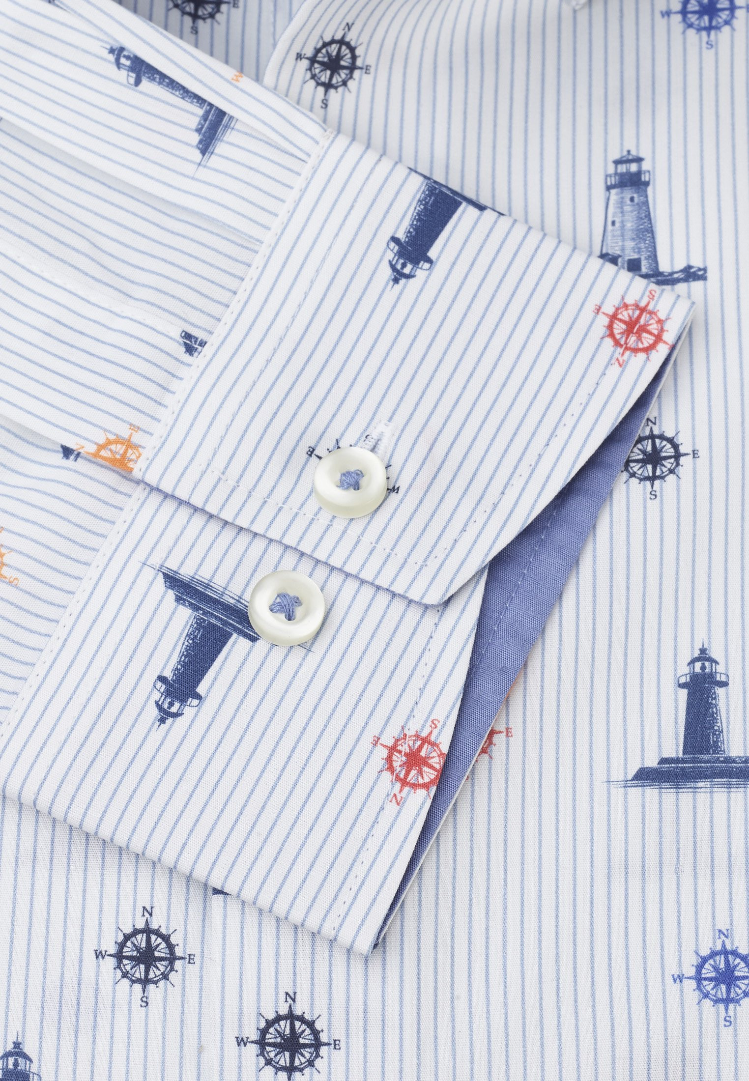 Lighthouse Print Classic Fit Shirt
