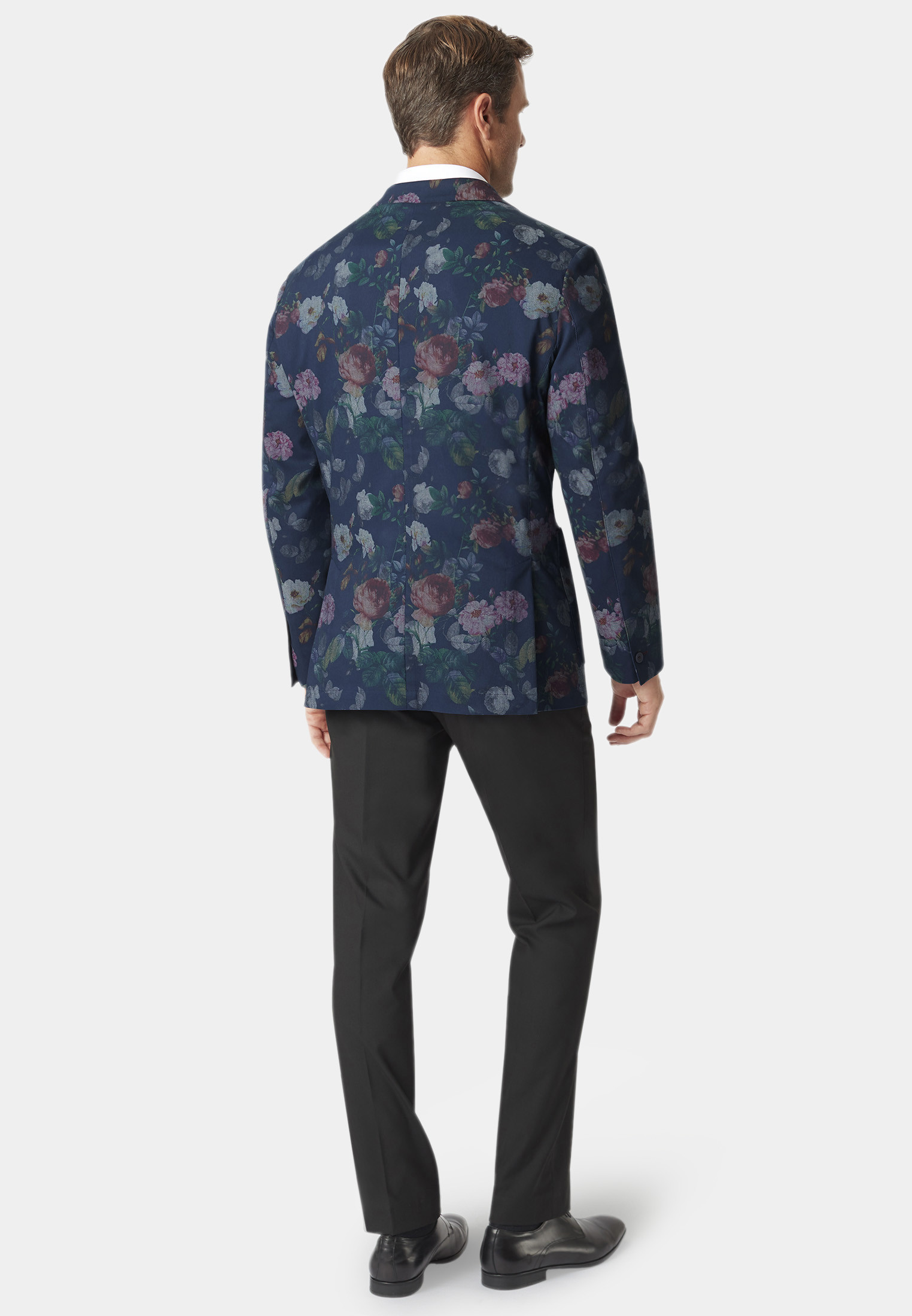 Coxwold Navy Floral Jacket