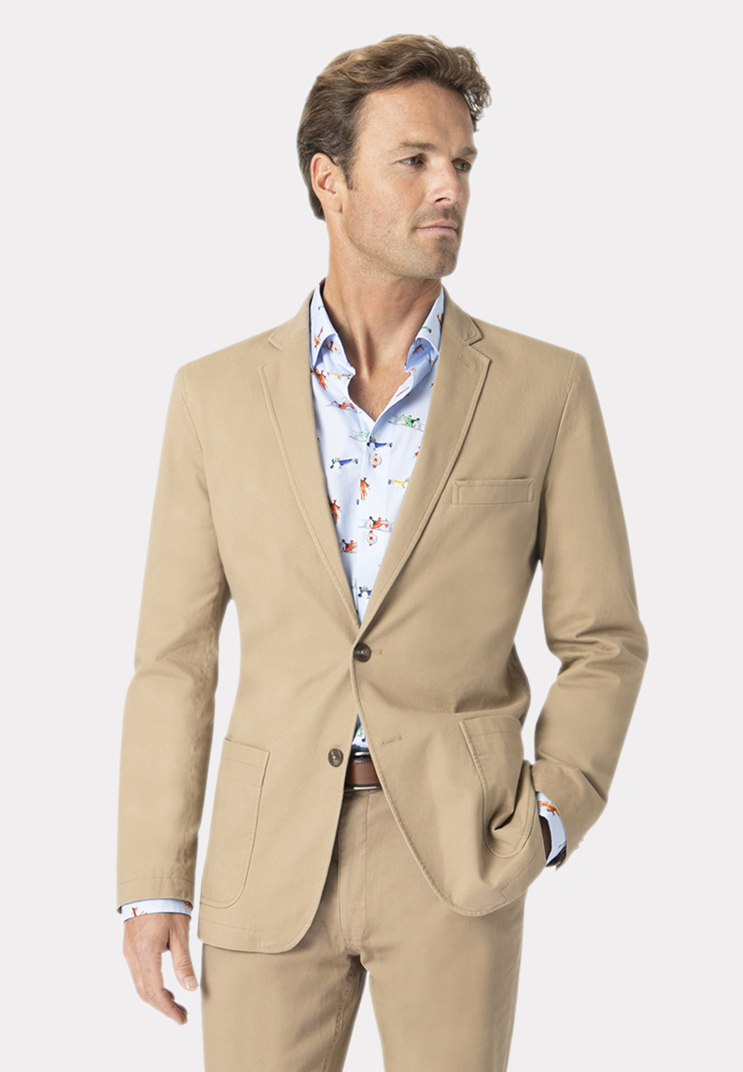 Edmonton Sand Tailored Fit Chino Suit