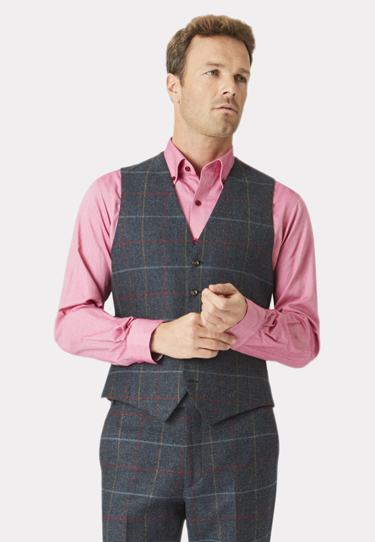 Haincliffe Tweed Three Piece Suit - Waistcoat Optional