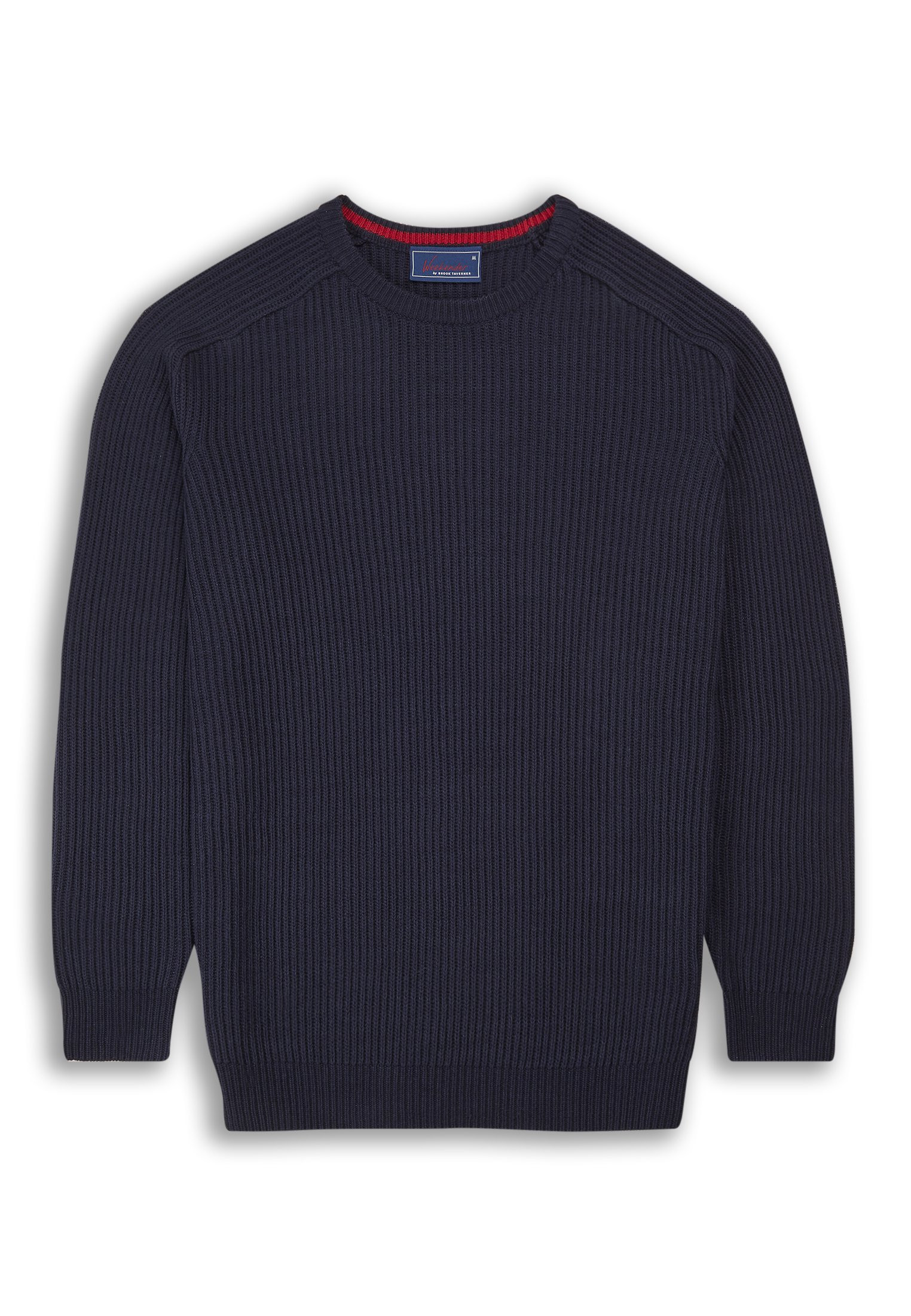 Clyston Navy Ribbed Crew Neck