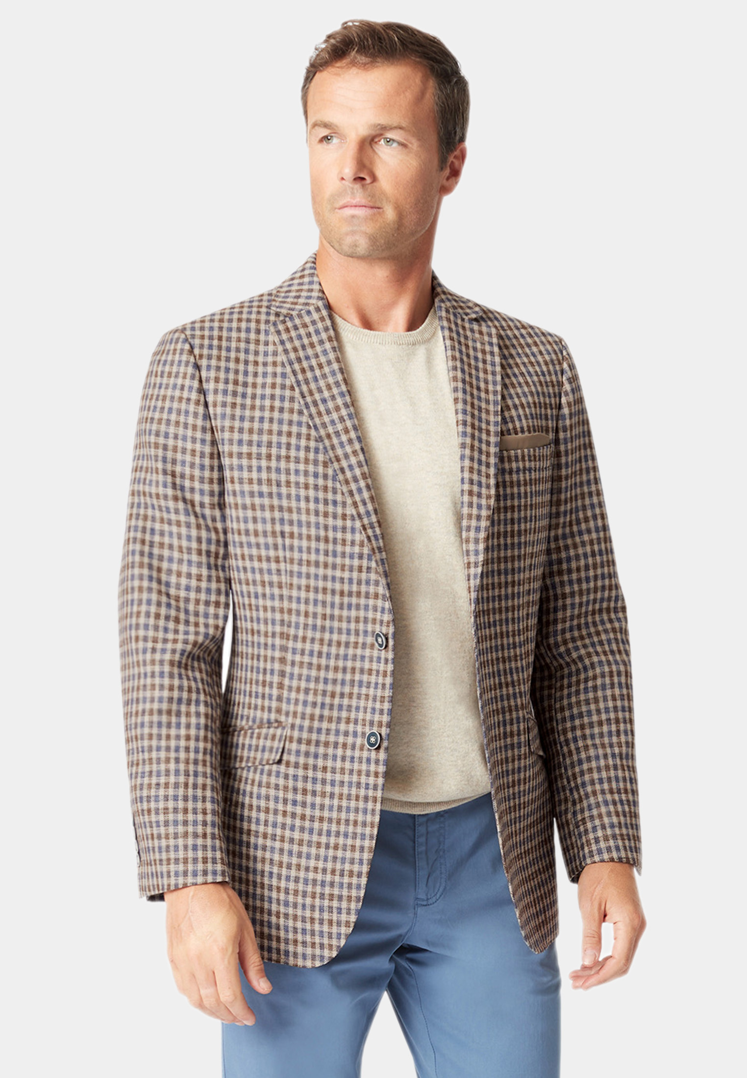 Leyburn Mocca Check Jacket