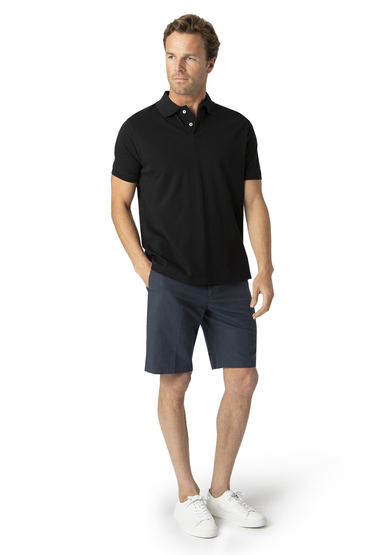 Milford Black 100% Pique Cotton Polo Shirt