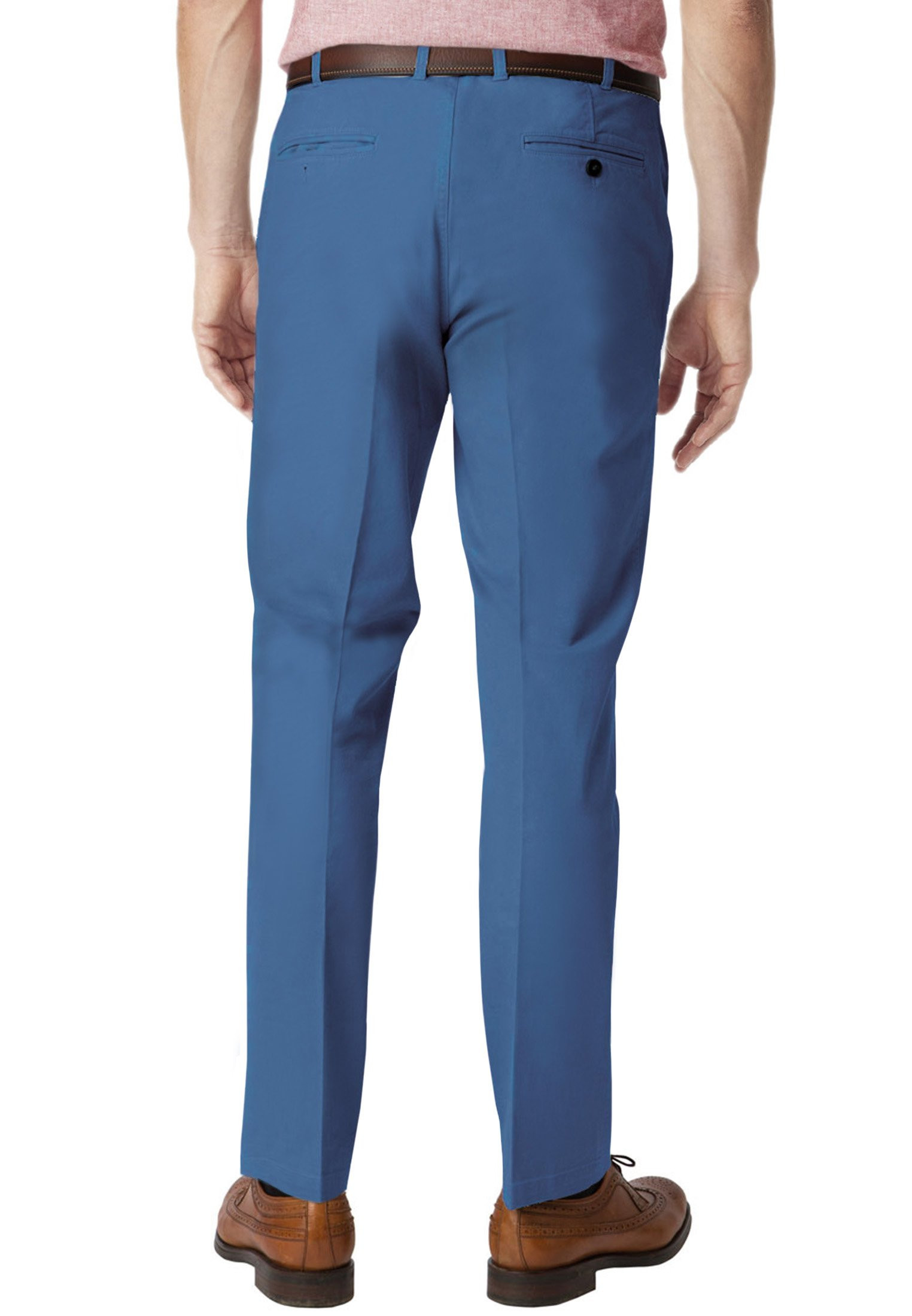 Ribblesdale Sky Blue Tailored Fit Cotton Stretch Summer Trouser